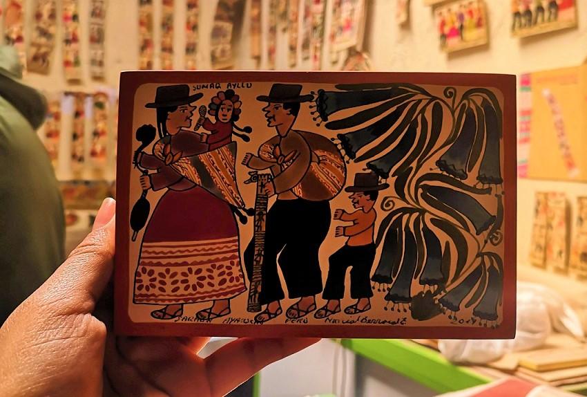 Peru arts and crafts Tablas de Sarhua