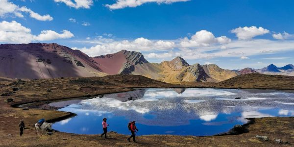 Trekking towards the Ausangate mountain in Cusco