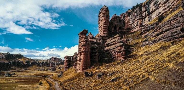 Tinajani canyon in the route between Cusco and Puno