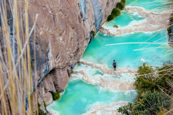 Millpu turquoise pools in Ayacucho, Peru