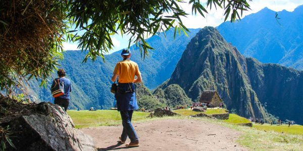 View of Machu Picchu and Huayna Picchu, Cusco