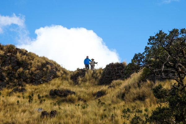 Hike towards the Lake of the Condors in Northern Peru