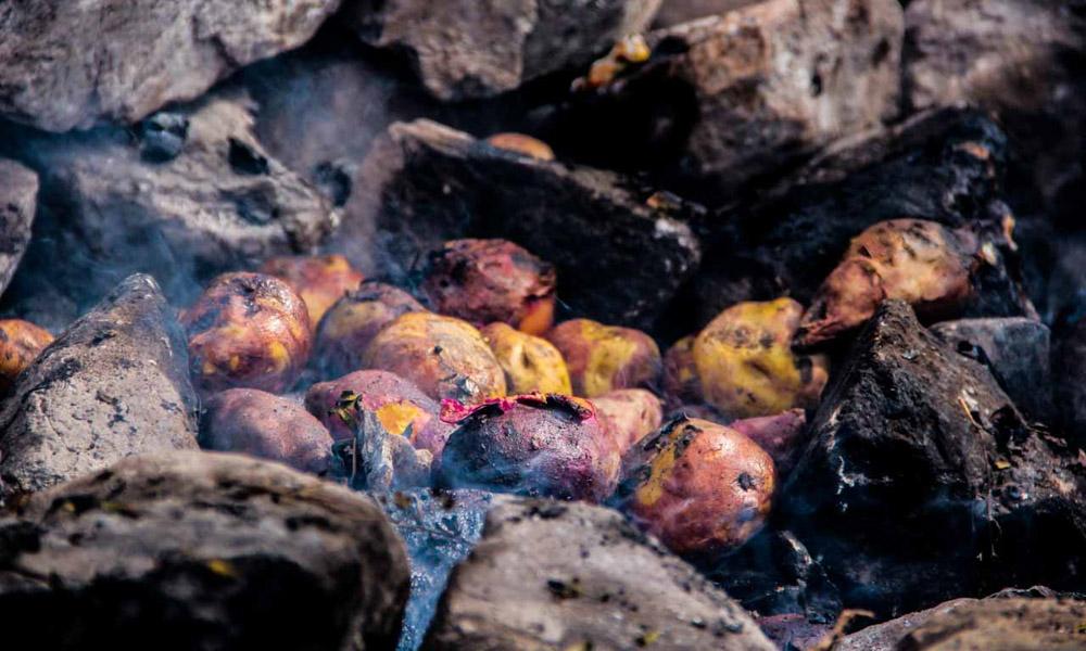 Peru Potato dish Pachamanca