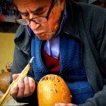 Peruvian Carved Gourds in Huancayo, Peru