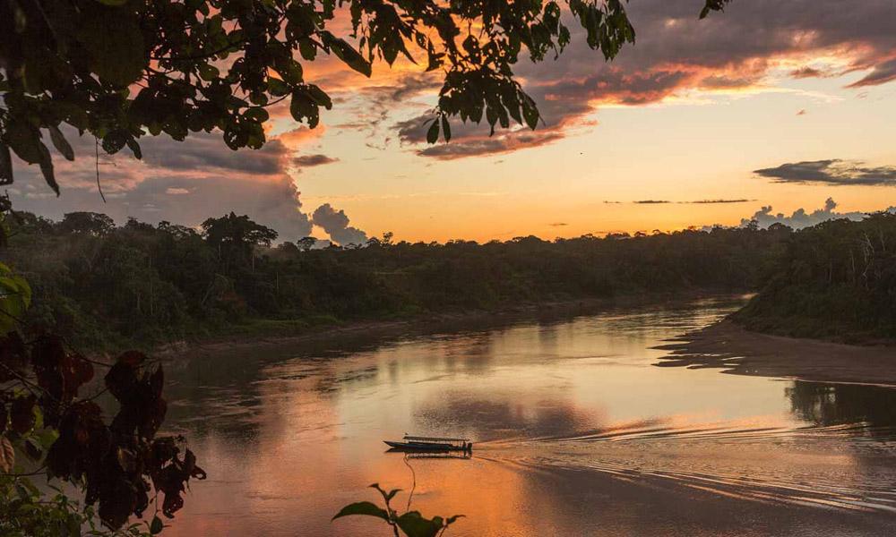 Sunset Tambopata National Reserve Peru