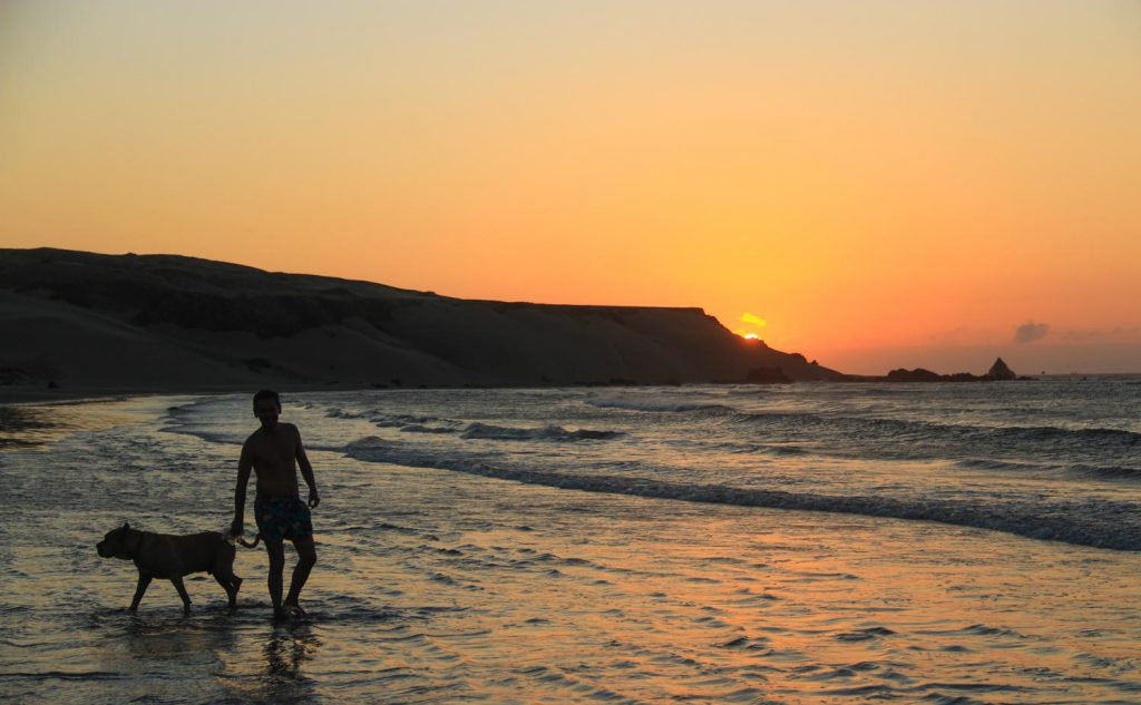 Enjoying the Sunset in Illescas, North of Peru