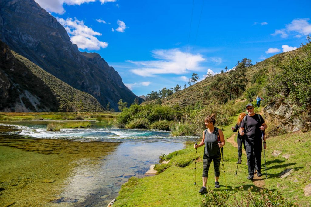 Walking by the river in Huancaya, Nor Yauyos Cochas Reserve