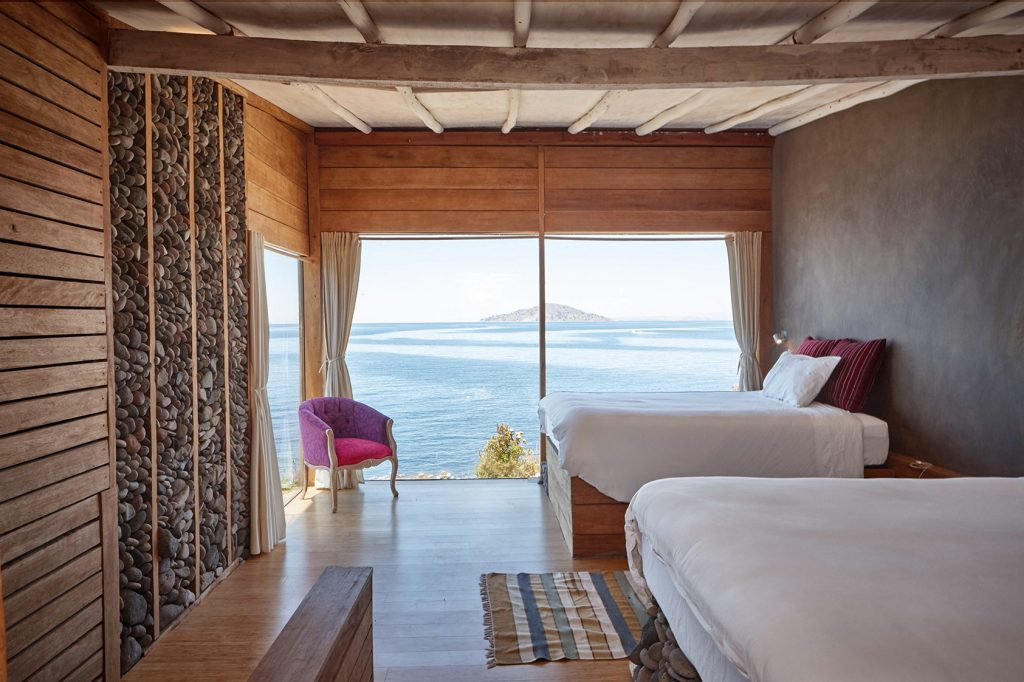 A wonderful view from a room in Amantica, Lake Titicaca