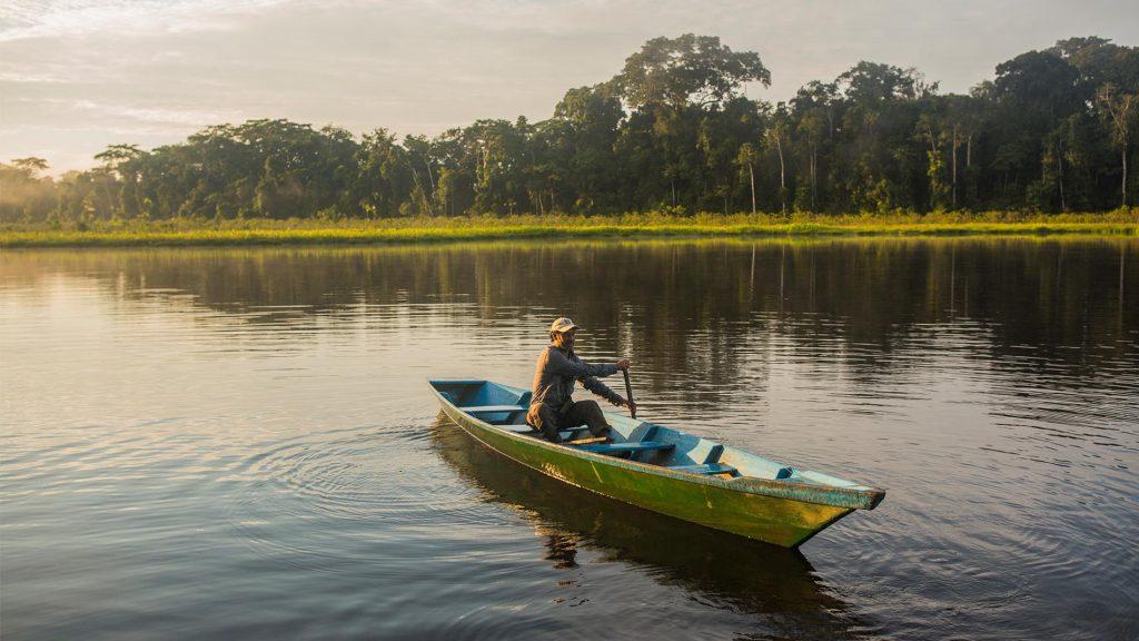 Tres Chimbadas lake in Tambopata National Reserve
