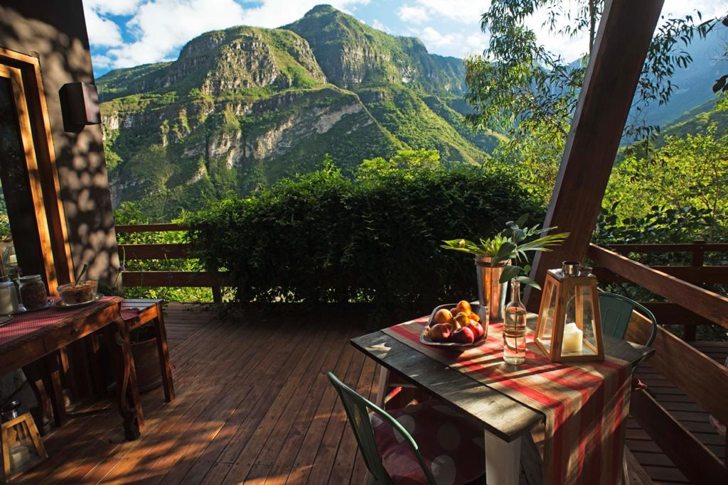 Terrace at Gocta Natura Lodge
