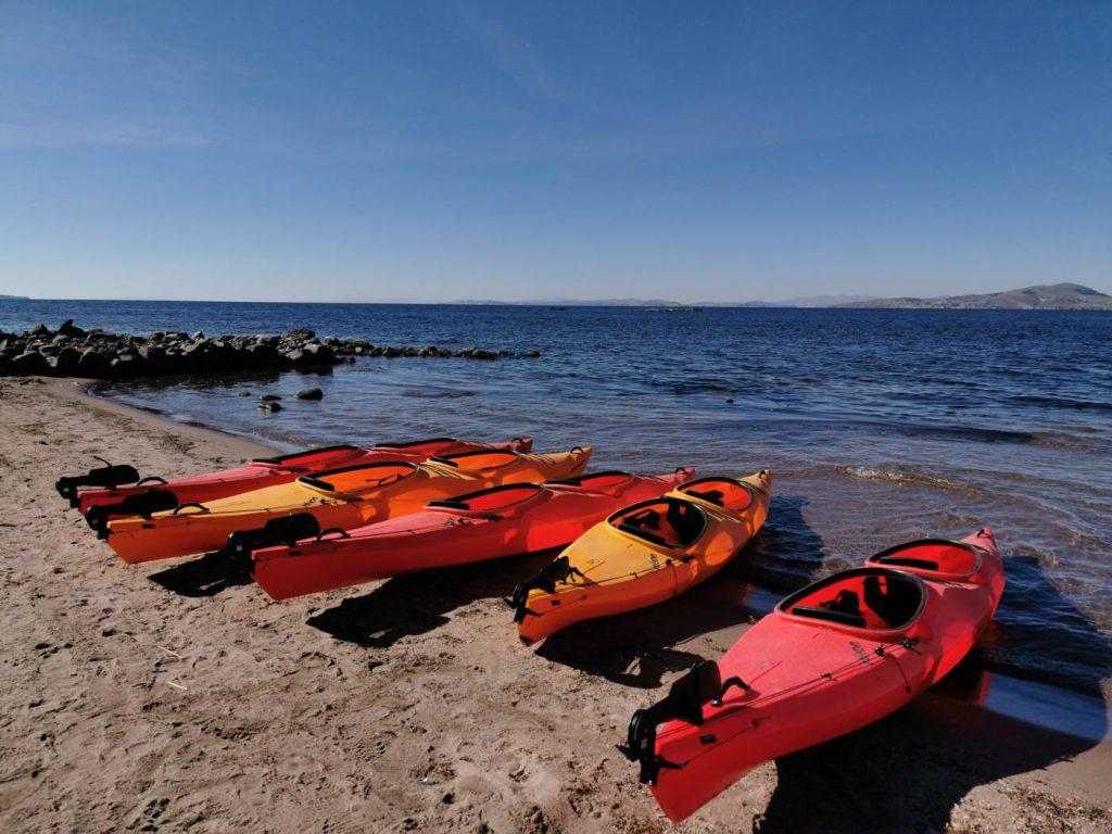 Kayaking in the Lake Titicac