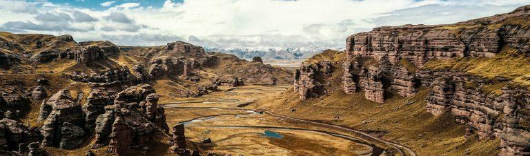 Tinajani Canyon, view from above, Puno