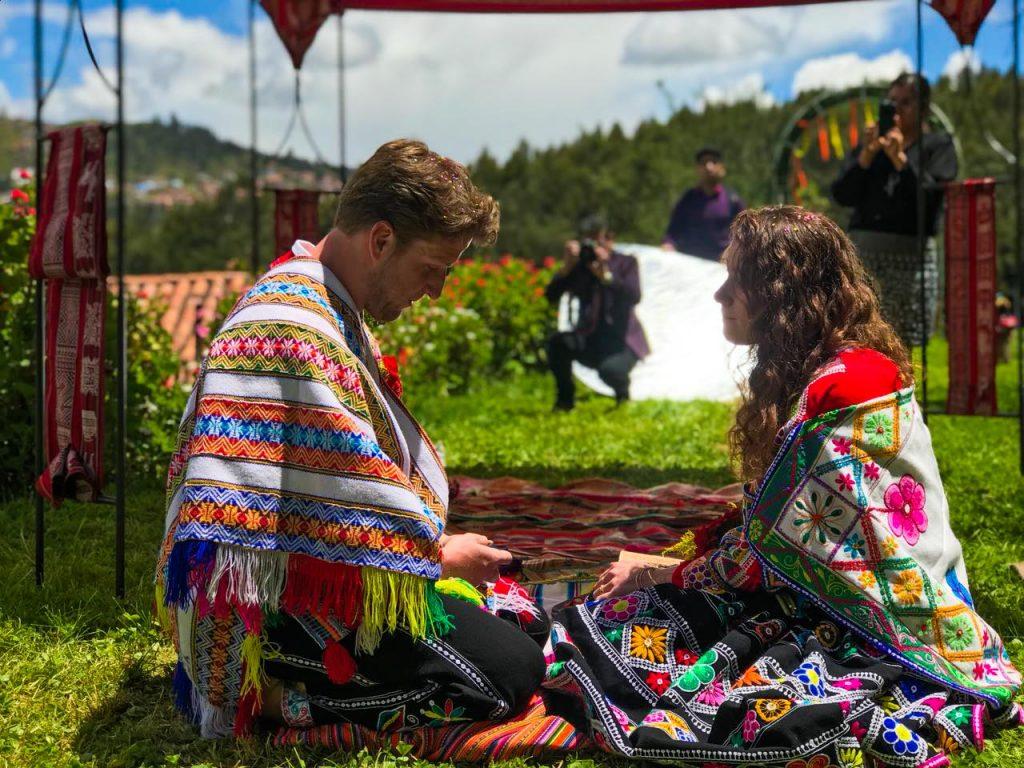 Honeymoon trip and Andean wedding, Peru