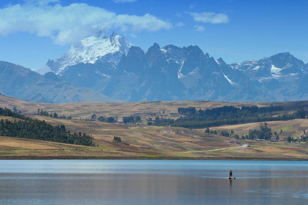 Paddling in Huaypo Lake, Sacred Valley